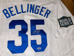CODY BELLINGER Autographed Dodgers World Series Jersey PSA/DNA Authentic COA