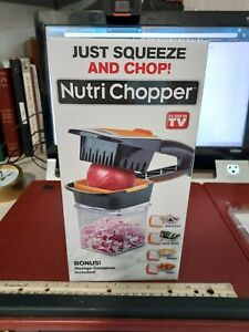 As Seen on TV Nutri Chopper Just Squeeze and Chop with storage container