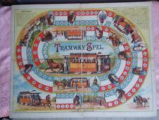 Tramway Spel Gioco dell'oca  1885 rarissimo su masonite