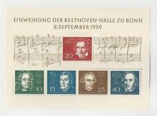 Germany, Postage Stamp, #804 Mint NH Sheet, 1959 Music, Beethoven