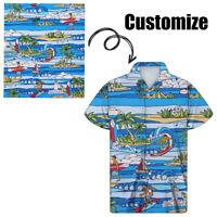 Custom Design Hawaiian Shirts for Men Women Summer Holiday Beach Short Sleeve