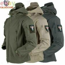 Mens Waterproof Military Jacket Winter Hooded Breathable Outdoor Tactical Coat