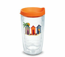 Tervis 1081973 Cabanas Emblem Tumbler With Travel Lid, 16 oz, Made in the USA