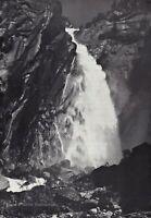 1950s Vintage ANSEL ADAMS Cascade Fall Yosemite Valley Landscape Photo Art 11X14