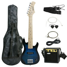 "30"" Kids Blue Electric Guitar With Amp & Much More Guitar Combo Accessory Kit"