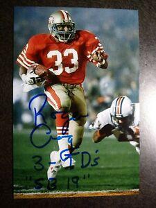 ROGER CRAIG Authentic Hand Signed Autograph 4X6 Photo - NFL 49'ERS SUPER BOWL