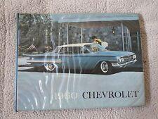 1960 CHEVROLET BEL AIR IMPALA CORVETTE ORIGINAL DEALER ALBUM SALESMANS BINDER