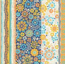 2 Serviettes en papier Fleurs et bandes Decoupage Paper Napkins Flowers Stripes