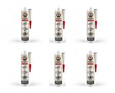 6x K2 Silikon Silikon Hochtemperatur Dichtmasse +350° rot 300g