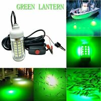 Green Underwater Submersible Night Fishing Light Boat Attract Fish 108LED 12V