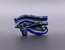 Rare Egypt Egyptian Antique Eye of Horus Goddess Lapis Lazuli Stone 4300 Bc