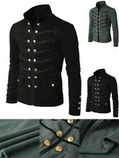 Великобритания ретро мужские Викторианская Готика стимпанк пальто двубортное короткое куртка S-5XL