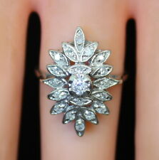 Beautiful Vintage 14K Gold .26 Ct TW Diamond Cluster Ring, Size 7