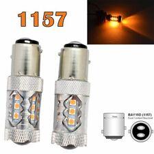 Front Signal 1157 2057 2357 3496 7528 BAY15D P21/5W 80W LED Bulb Amber M1 AR