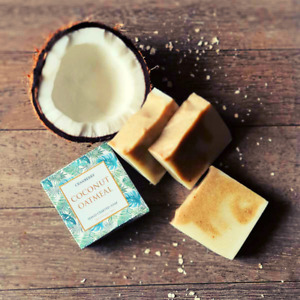 Coconut Oatmeal Soap 100g handcrafted Soap smelling heavenly