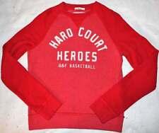 Abercrombie Kids Boy's SOFT Basketball Red Sweatshirt Top XL 12 14 Yrs