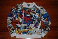 Men's Marvel Comic Book Capt America/Spiderman Sweatshirt (Slim Fit Medium)