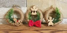 CHRISTMAS Wreath Tree Decorations | HANDMADE Baubles Set