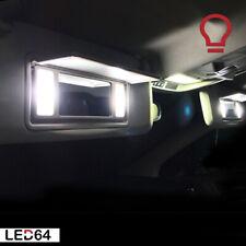 4 ampoules à LED Blanc des miroirs de courtoisie / pare soleil pour Peugeot 3008