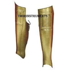 300 Greaves Spartan Leg Armor Official Replica Antique Brass