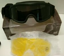 New listing Lancer Tactical Airsoft Satety Goggles clear smoke yellow lens NWT. Dust goggles