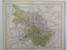 Yorkshire (The West Riding), 1861 Antique Map, County, Hughes, Atlas