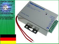 230V AC 12V 3A DC Access Control Netzteil Power Supply für Türöffner Codeschloss