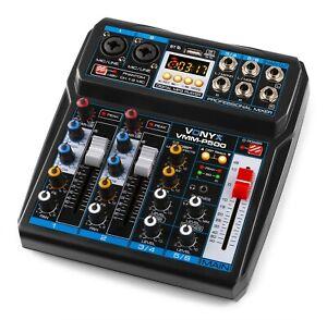 VMM P500 Mini Studio Mischpult mit USB-Soundkarte / Bluetooth und Effekten