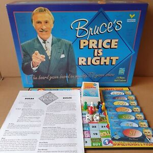 Very Rare Bruce's Price Is Right Board game Complete Paul Lamond Games 1996