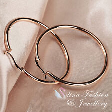 18K Rose Gold Plated Most Popular Medium Hoop Earrings Fashion Jewellery