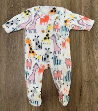BNWT Baby Boy Baby Girl Unisex 0-3 months 100/% Bamboo Safari Animal Sleepsuit