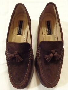 Women's Sz 7.5 Hush Puppies ~ Brown Suede Loafers