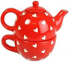 CUORI DESIGN tè Per Uno-Tea Pot e Coppa Set