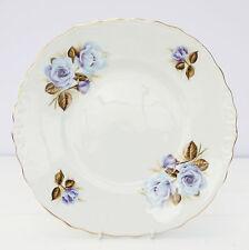 VINTAGE Crown Royal Bone China Piatto per torta Blu Floreale Rose