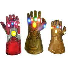 Adult Kids Iron Man Thanos Gauntlet Glove with LED Infinity War Avengers Cosplay