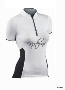 Maillot Vélo Femme - NORTHWAVE 89131101 Venus Jersey Blanc Noir - T. XL - NEUF