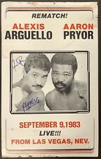 Alexis Arguello Signed Fight Poster 14x23 Boxing 1983 Autograph Aaron Pryor JSA