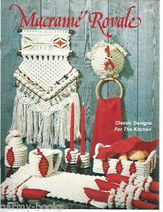 Macrame Royale Kitchen Designs Coasters Trivets Vintage Pattern Instruction 1978