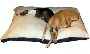KosiPet® Med Deluxe Waterproof Rhomboid Memory Foam Cushion Dog Bed WHITE SHERPA