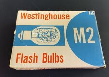 Vintage Westinghouse camera M2 flashbulbs General Electric USA made plus box