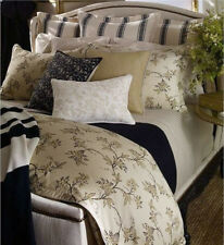 Ralph Lauren Plage D'Or Champagne Brown Vines/Blossoms Floral Full Flat Sheet