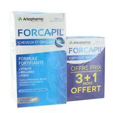 FORCAPIL 180+60 Gélules pour Cheveux et Ongles Promo 3 Mois + 1 Mois Offert