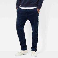 G-star Bronson Tapered Chino Cuffed Dark Blue Jeans W35 L38 VEry Good RARE