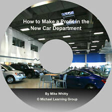 Auto Sales Training - Making a Profit in New Car Dept Audio