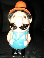 Plastic Character - Farmer in Overalls/Black Mustache and Hair