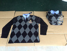 NWT Men's TOMMY HILFIGER LONG SLEEVE SHIRT. POLO. Crown Crest Design. New. Large
