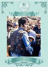 Vintage 1960s crochet pattern-how to make a hippy vest top like Paul McCartneys