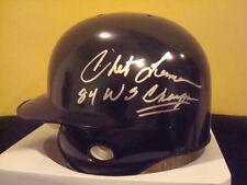 Chet Lemon AUTOGRAPH DETROIT TIGERS MINI HELMET SIGNED 1984 WORLD SERIES CHAMPS