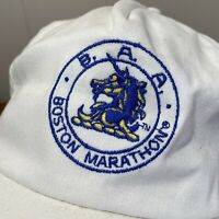 Boston Marathon Vintage Hat Snapback Cap White 90s Adult Running Massachusetts