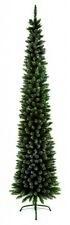 Premier Pine Pencil Slim Flocked Christmas Tree - Green - 200cm/2m - FREE P&P